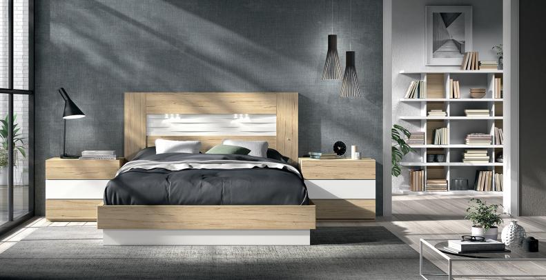 Dormitorio de matrimonio eos concept amobel muebles madrid for Mesillas de habitacion