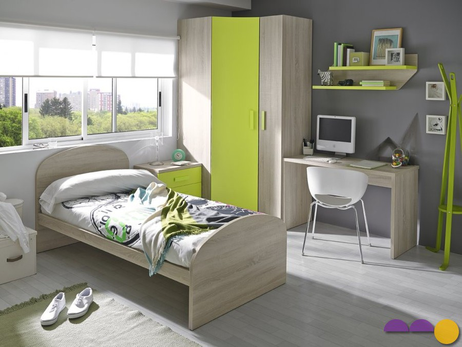Camas juveniles amobel muebles madrid for Medidas camas compactas juveniles