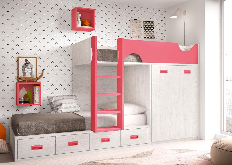 Literas y camas tren de amobel muebles for Camas tren juveniles